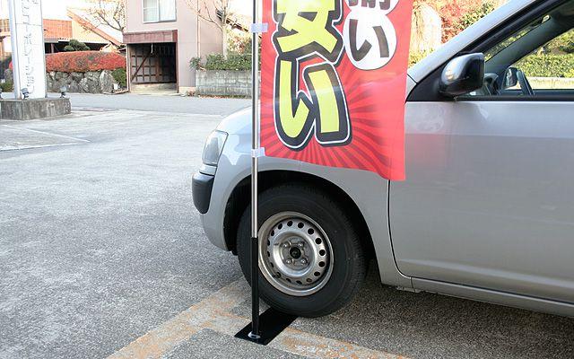 車用(タイヤ踏み込み式)スタンド 使用例03