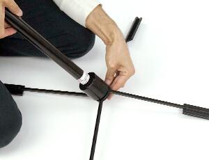 屋内用折りたたみ式ポールスタンド 組み立て説明3