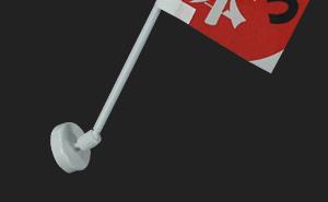 ミニのぼり用マグネットポール 使用例1