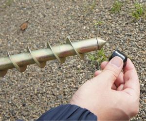 のぼりスタンド埋め込み式タイプ:スチール製 使用例1