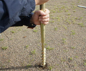 のぼりスタンド埋め込み式タイプ:スチール製 使用例2