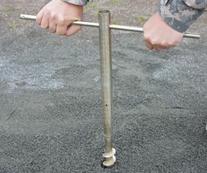 のぼりスタンド埋め込み式タイプ:スチール製 使用例3