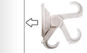 強力吸盤フック 使用例1