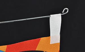 ミニのぼり用吸盤付き針金POP(90×310) 使用例3
